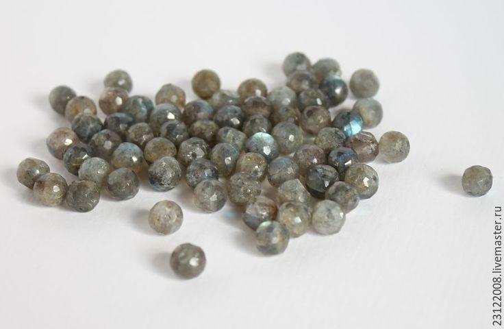 Купить ЛАБРАДОР. ОГРАНКА  ,ШАР 7мм  - КАНАДА-160 - серый, лабрадор, лабрадор натуральный, камни