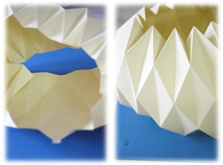 work-and-process: Weekend DiY - Origami Lampshade