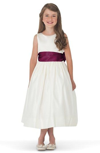 Us Angels Ivory Satin Tank Dress (Toddler, Little Girls & Big Girls) | Nordstrom