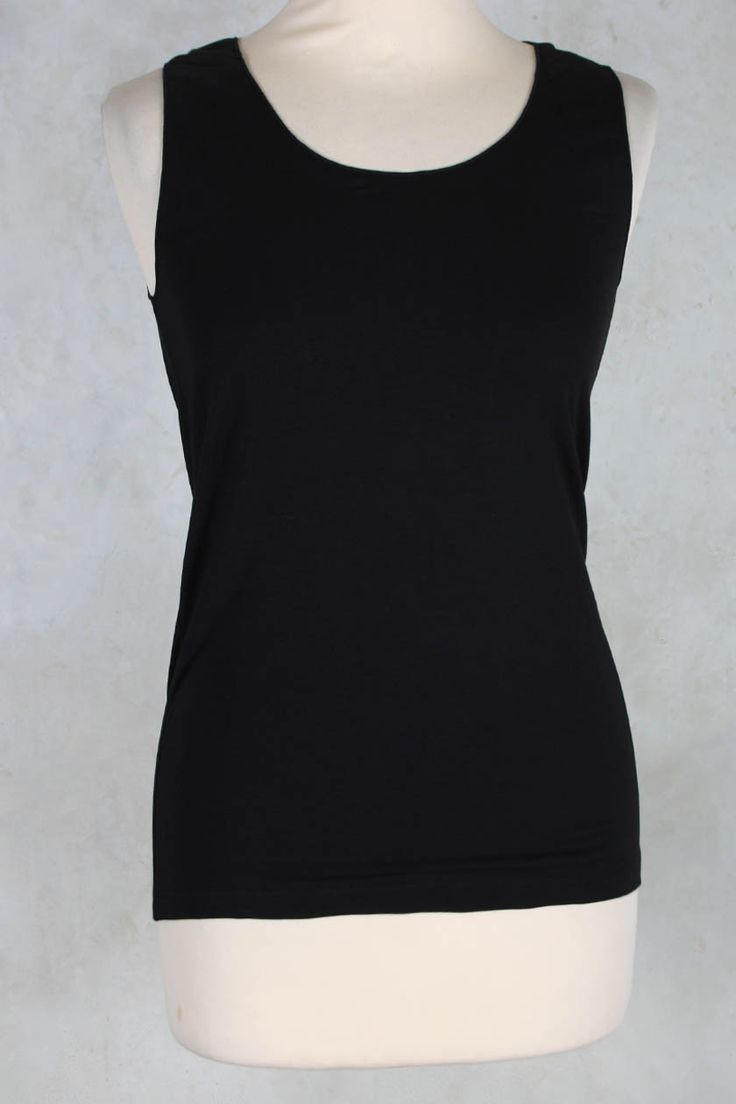 Stretch Vest Top in Black - Crea Concept