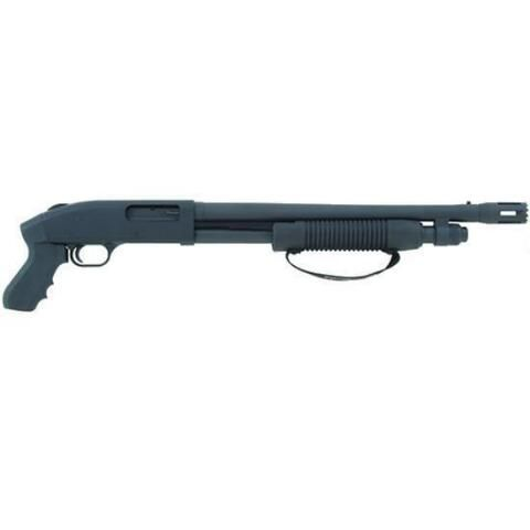 "Mossberg 500 Tactical Cruiser Pump Action Shotgun 12 Gauge 18.5"" Barrel 3"" Chamber 5 Round Capacity Synthetic Stock with Pistol Grip Matte Black Finish"