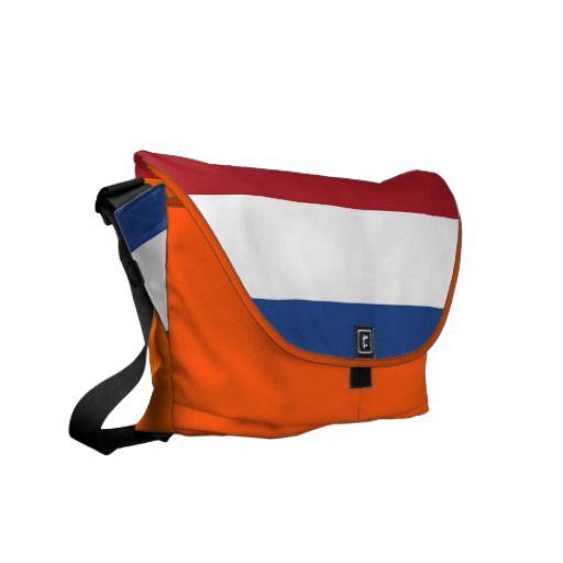 Netherlands Flag by Alan Harman Messenger Bag