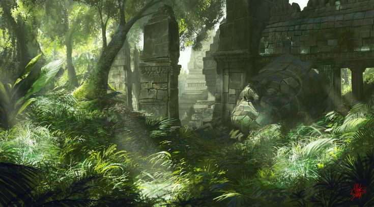 Ancient Ruins, Hyunsu Cha on ArtStation at http://www.artstation.com/artwork/ancient-ruins-a7abcf04-9ca0-4efa-8bbb-121d72e00051