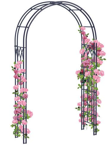 At Almost High, Our Garden Arch Is Ideal For Climbing Roses, Clematis And  Flowering Vines. Made From Durable Powder Coated, Steel Tubing.