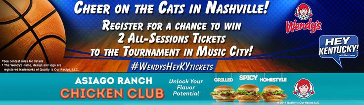 Wendy's Hey Kentucky Basketball Tickets Giveaway