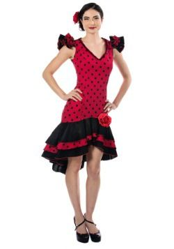 Costume dançarino espanhol da mulher