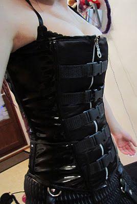 #corset top #cybergoth #goth