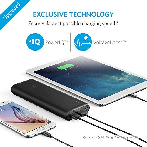 "Anker Power Bank 20000 mAh, Suitable for the brand new 12 "" MacBook 2016 USB-C to USB 2.cable needed), Apple and Android smartphones,tablets"