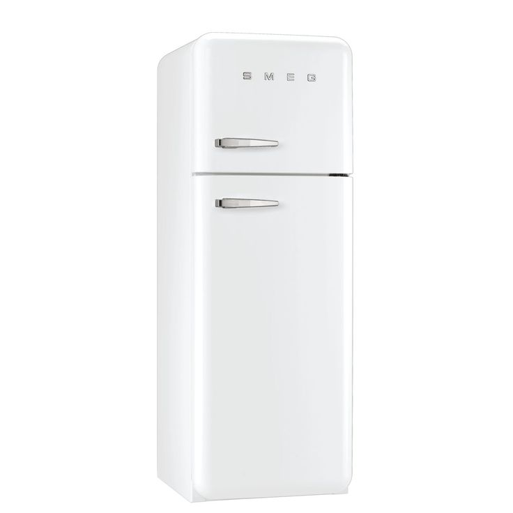 smeg fab30rfw 50u0027s retro style white fridge freezer