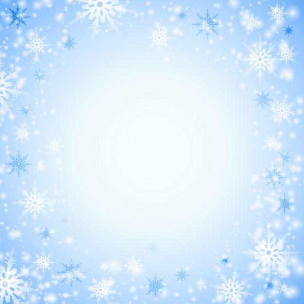 Рождественские синий фон со снежинками Premium векторы