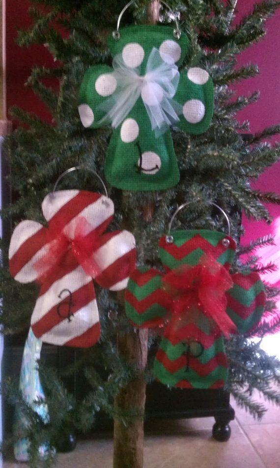 90 best burlap images on pinterest burlap crafts burlap projects three christmas cross burlap ornaments by truckscreativecrafts 2400 solutioingenieria Gallery