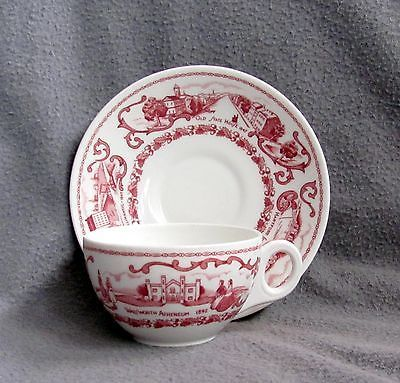 Hartford CT G Fox Dept Store Connecticut Room Restaurant China Cup & Saucer