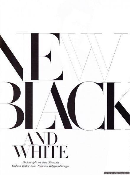 Best fashion magazine layout inspiration black white 40