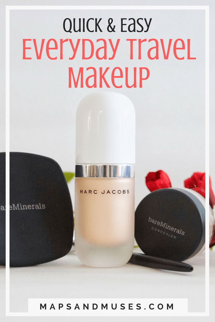 If you're always struggling with what makeup to bring on your trip and what to leave at home, I'm here to help! Check out my easy everyday travel makeup here: https://www.mapsandmuses.com/everyday-travel-makeup/   Travel   Travel Makeup   Travel Tips   Travel Makeup Essentials   Makeup Tips   Makeup Ideas   Everyday Makeup   Travel Beauty Essentials   Travel Beauty   Beauty Hacks #travelblog #travelmore #makeup