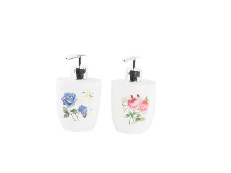 #dispensador o #jabonera de liquido para baños de #diseños #flor en www.catayhome.es