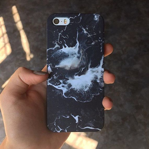 IPHONE BLACK CASE iPhone marble case iPhone 6 case by needthecase
