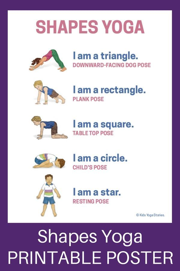 Shapes Yoga: How to Teach Shapes through Movement (Printable Poster