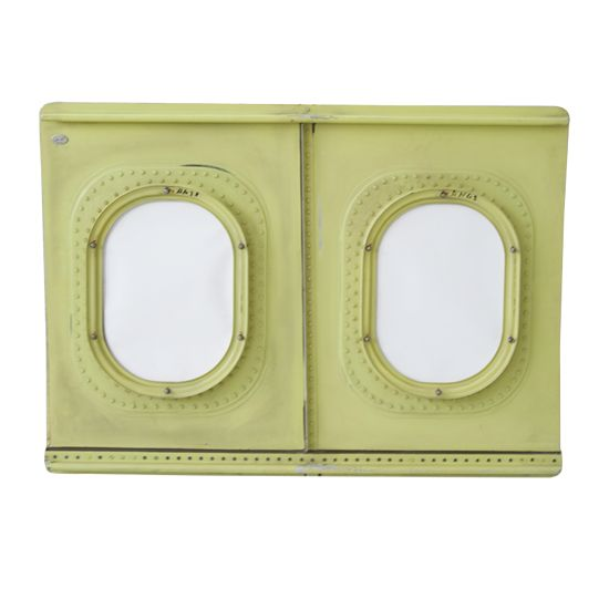 Aircraft Window Double Photo Frame also comes refurbished to a color of your choice. It is a unusual gift idea, and great for home office decoration.