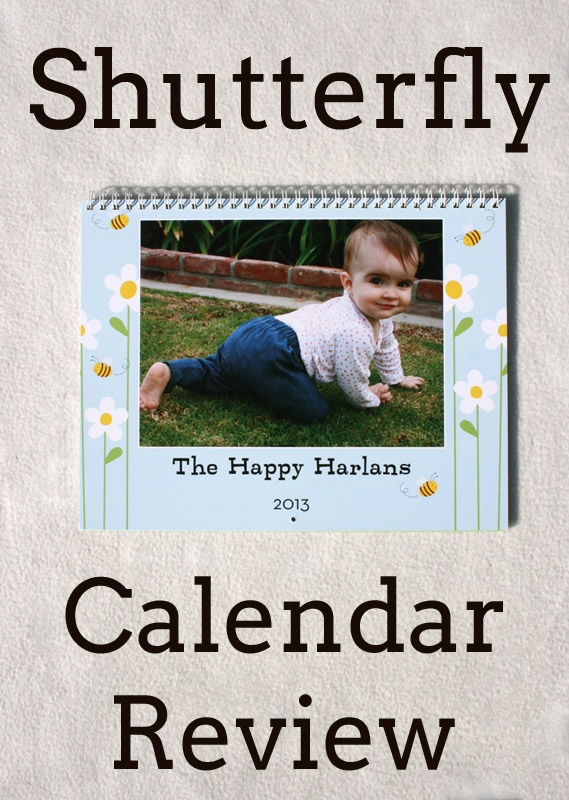 Sunshine, Lollipops, and Rainbows: Shutterfly Calendar Review