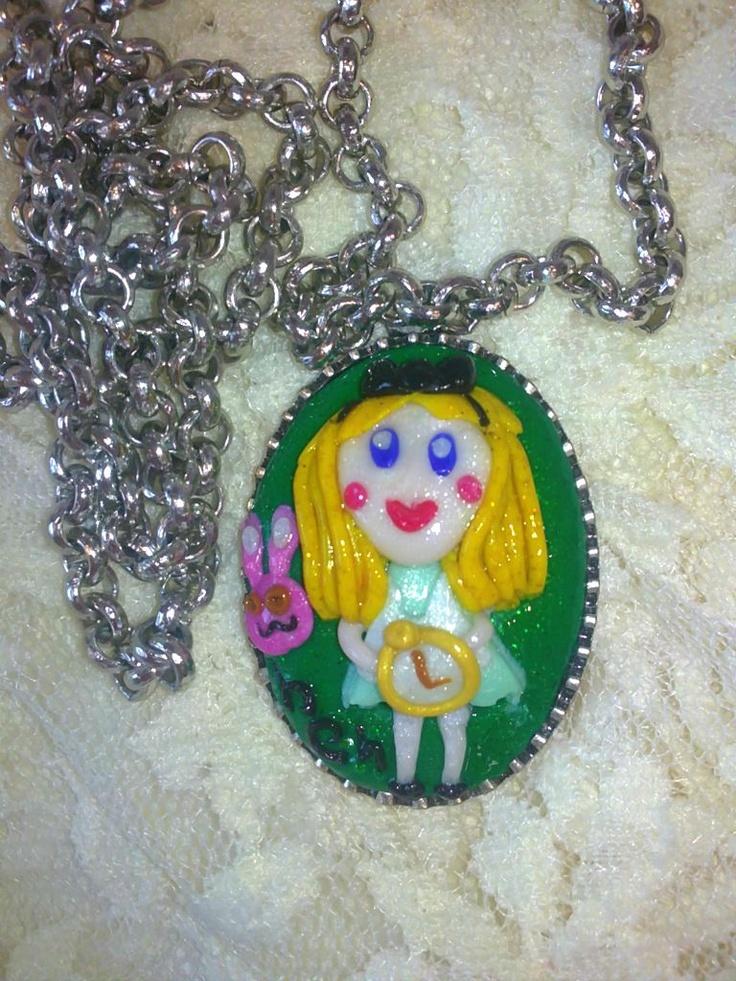 Handmade fimo jewellery    Alice in Wondeland