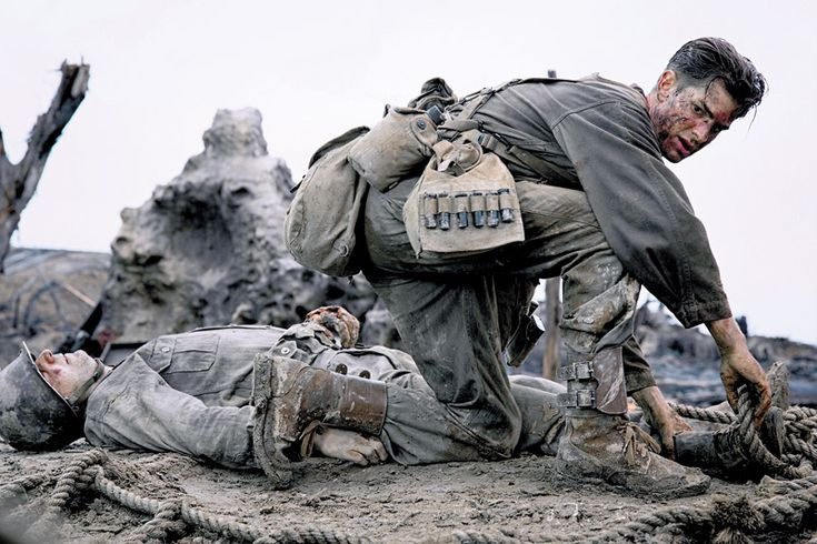 HACKSAW RIDGE — Desmond Doss (Andrew Garfield) was a conscientious objector when he was drafted into the army in World War II, citing his religious beliefs as a Seventh-day Adventist as to why he would not pick up a rifle.