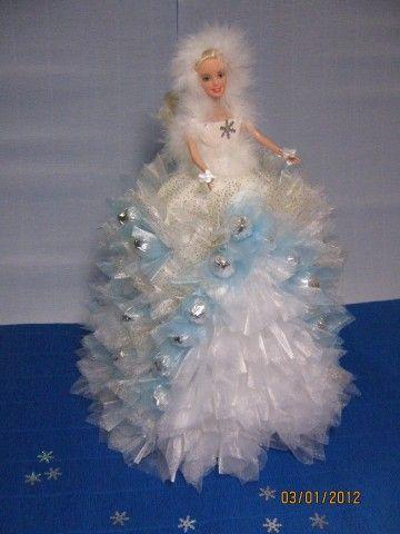 Снегурочка из гофрированной бумаги мастер класс - Компания Экоглоб
