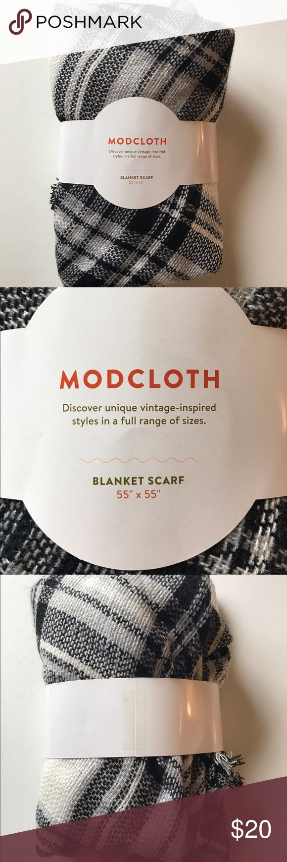 Modcloth Blanket Scarf NEW! Modcloth Blanket Scarf.  Black and white. ModCloth Accessories Scarves & Wraps
