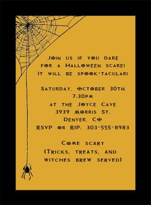 Halloween invitations google search halloween pinterest