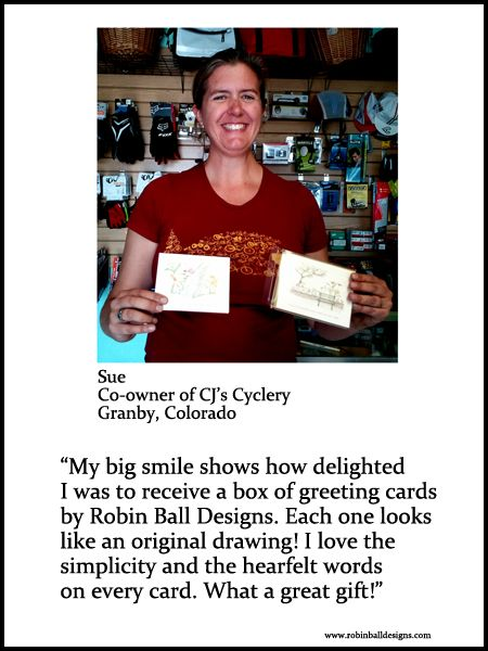 Sue's beautiful smile is the reason I do what I do! It gives me such pleasure that my cards can spread a smile like this!!!