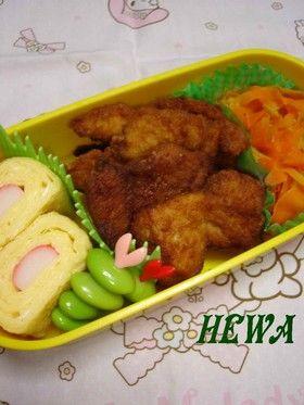 curry chicken bites 焼きそばソースで☆ささみのカレー揚げ (chicken breast)