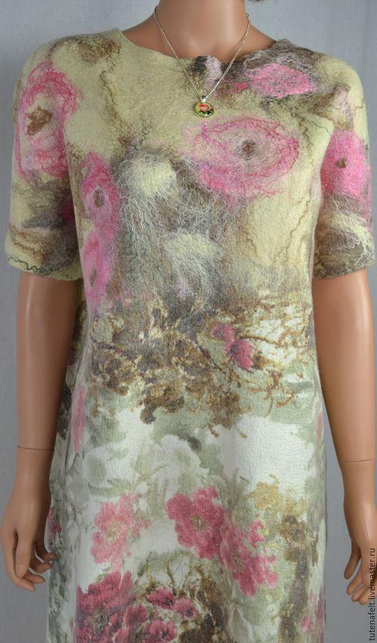 Платья ручной работы. Валяное платье для вечеринки