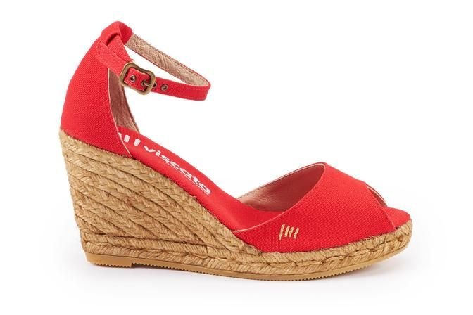 Image result for red espadrille open toe
