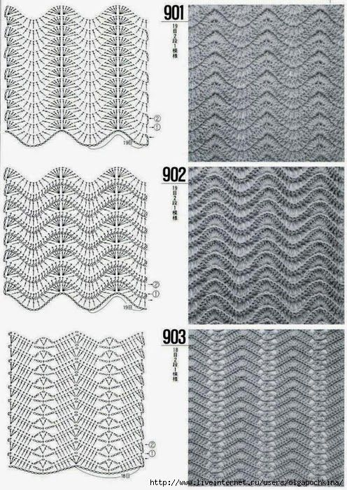 158 best Zig-zag crochet images on Pinterest | Crochet patterns ...