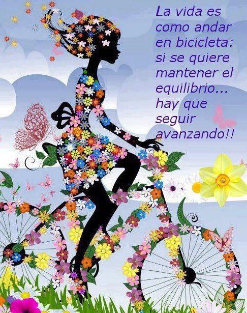 La vida es como andar en bicicleta - Imagenes con Frases, Fotos y Carteles para Compartir