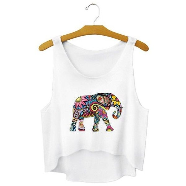 New Elephant Tank Tops Women Sexy Sleeveless T Shirt Sports Clothes Elastic  Running Vests Camisole Short Looser Digital Print