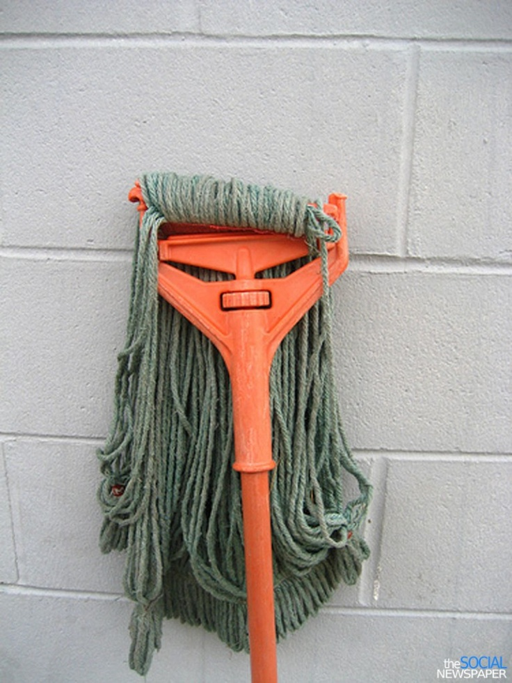 mop head - here's the mop to go with the bowling ball (accidental faces)