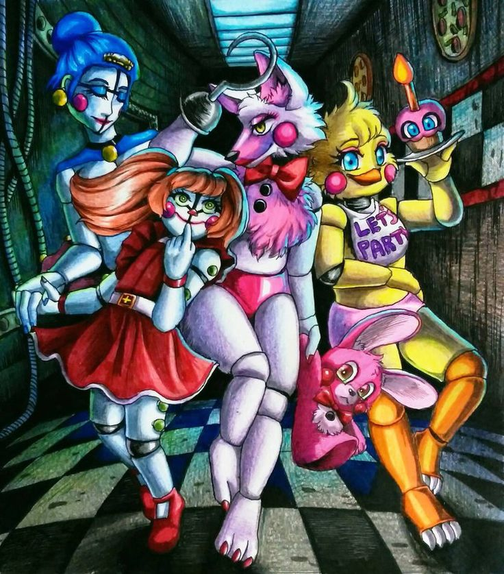 Five Nights at Ladies / FNaF by Mizuki-T-A.deviantart.com on @DeviantArt