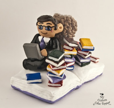 Reading Bride And Groom Cake Topper