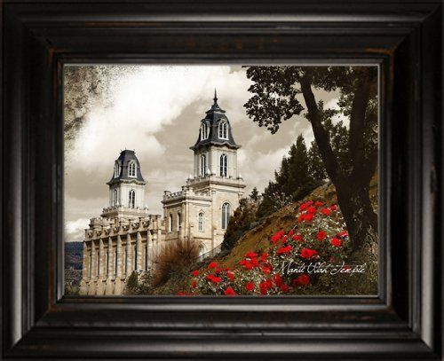 LDS Manti Temple 5 38x31 Double Frame - Framed Legacy Art ...