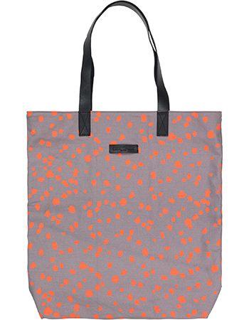 Shopper Animal Dot Grijs Oranje