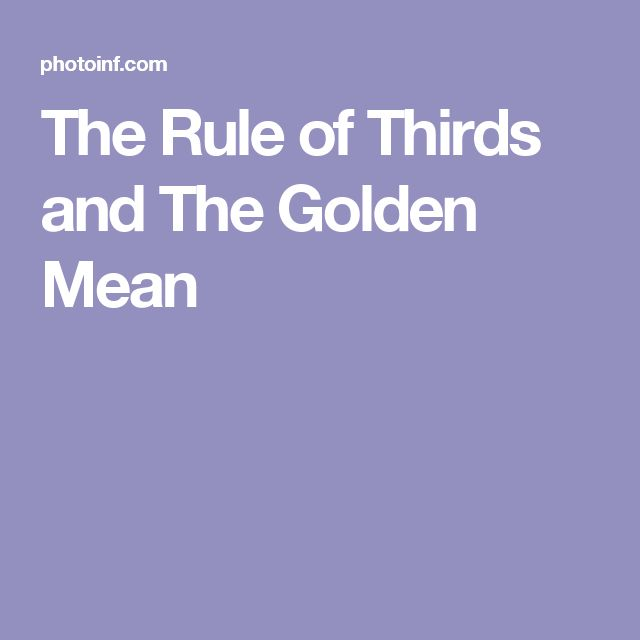 17 best images about golden mean ned on pinterest face for Rule of three meaning