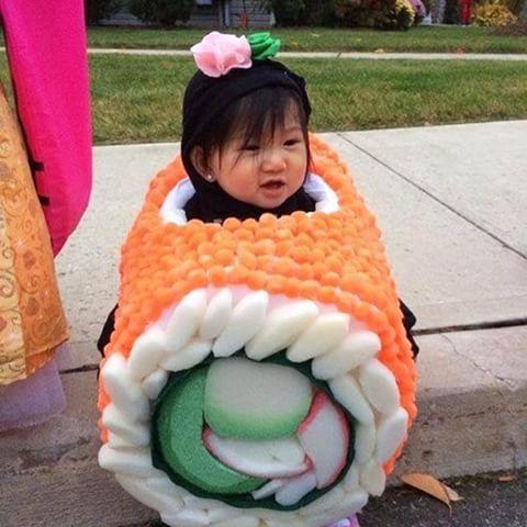 Verkleed-ideetje van #foam ! #sushi #carnaval #carnavalspak #kostuum #optocht