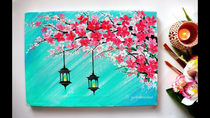 Easy Cherry Blossom Flowers With hangings lamps Pa…