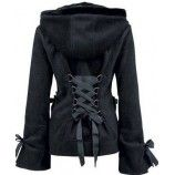 Super cute zip up hoodie with corset tie in the back! LADIES CLOTHING : HOODIE | Alice [PREORDER]
