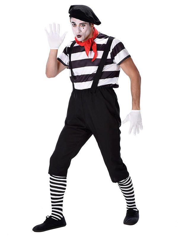 Pantomime Kostüm schwarz-weiss