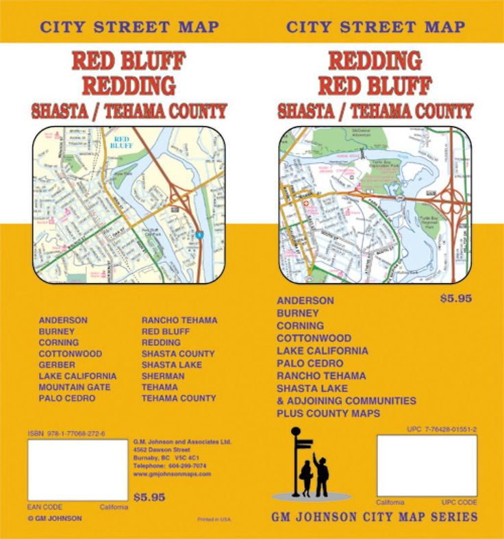 Redding, Red Bluff, Shasta and Tehama County, California by GM Johnson