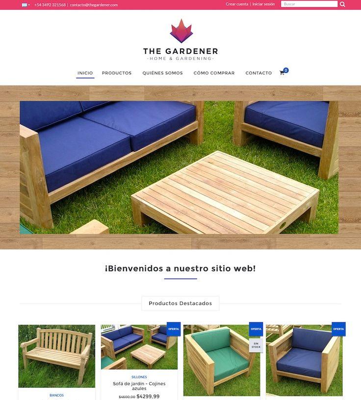 """#DiseñosNube: plantilla """"Gardener"""" orientado al rubro de la decoración y mueblería. Aún así son super adaptables a otros rubros. Encontralos en tu #TiendaNube."""