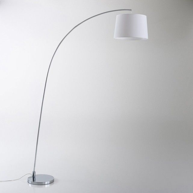 Ultra Hedendaags Design Voor Deze Staande Lamp In Boogvorm Waldun 2 Modellen Poot In Zwart Lampenkap In Zwart En Gechromeerd Lampen Staande Lampen Lampenkap