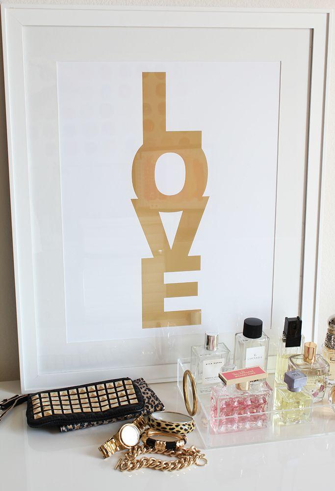 LOVE: Made By Girls, Modern Kids, Diy Art, Gold Foil, Scrapbook Paper, Master Bedrooms, A Frames, Kids Decor, Art Projects
