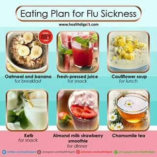 Eating plan when you have the flu